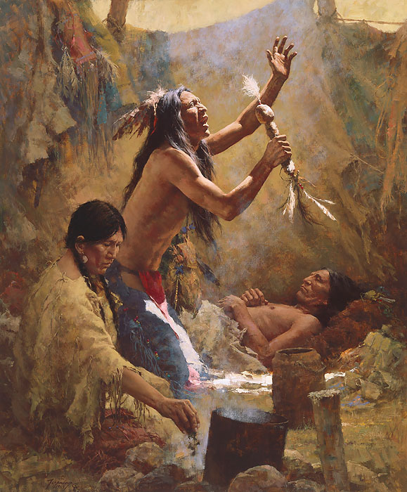 Howard Terpning Medicine man of the Cheyenne