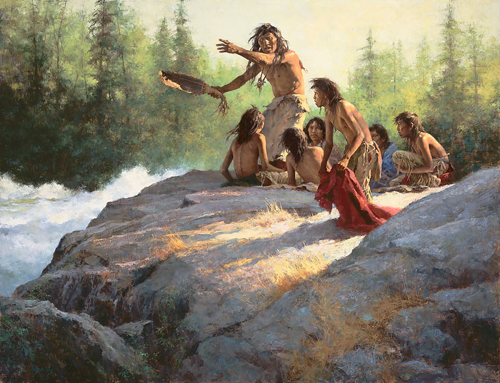 Howard Terpning Mystery of the Underwater People