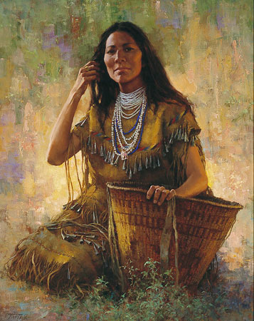 Howard Terpning Isdzan Apache Woman