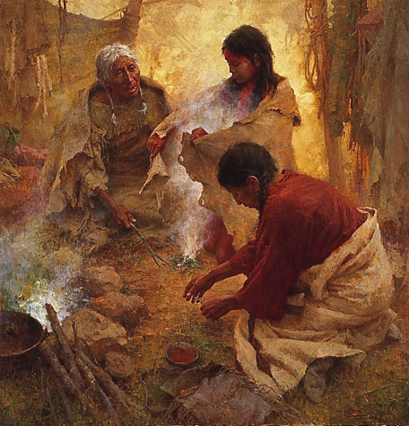 Howard Terpning Passing into Womanhood