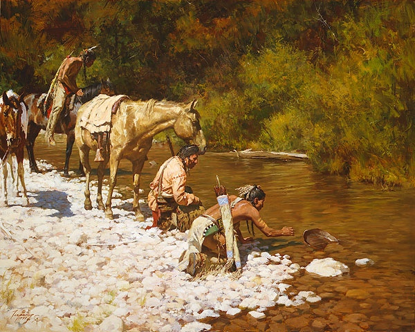 Howard Terpning Prospectors Among The Blackfeet
