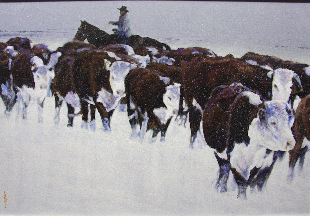 Alan Wylie Through Driven Snow Cows