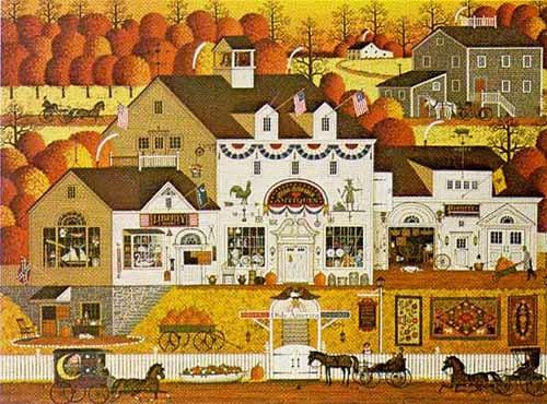 Charles Wysocki查爾斯·維索茨基-是一位美國畫家(1928年-2002年),他的作品描繪了一個程式化的美國昔日的生活。。。 - milk  - ☆ Milk ☆ 平平。淡淡。也是真。